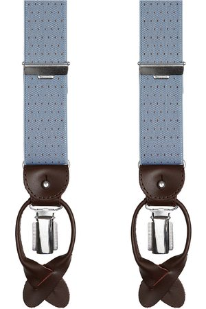 Profuomo Blauwe pindot bretels heren