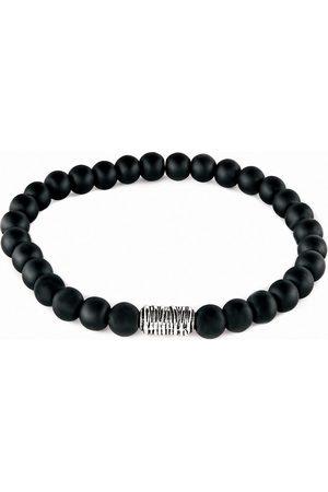 Profuomo Mat zwarte onyx armband heren