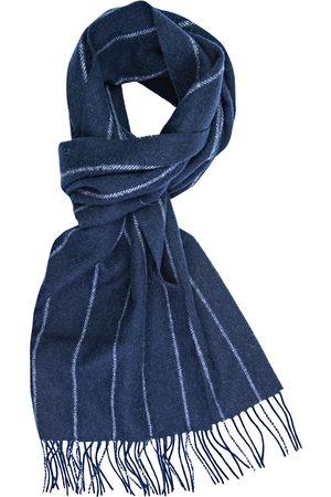 Profuomo Navy gestreepte wollen sjaal heren