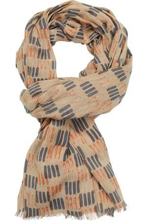 Profuomo Antra oranje print sjaal heren