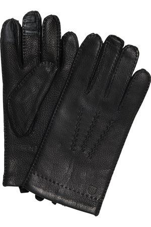 Profuomo Zwarte hertenleren handschoenen heren