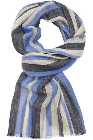 Profuomo Blauw gestreepte sjaal heren