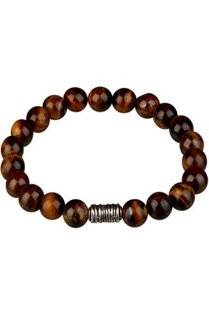 Profuomo Bruine tijgeroog armband heren