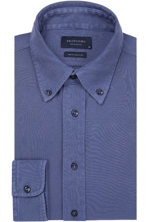 Profuomo Garment dye knitted overhemd Originale heren