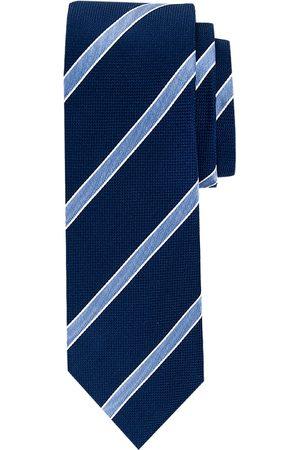 Profuomo Navy streep zijden stropdas heren