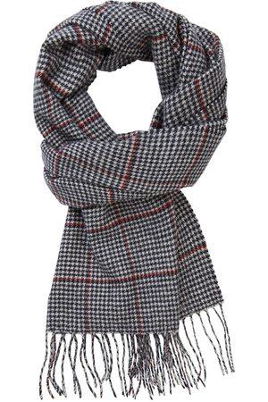 Profuomo Navy geruite sjaal heren