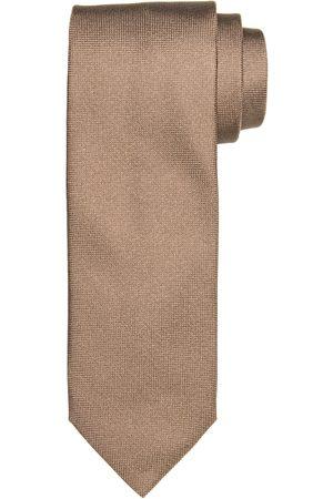 Profuomo Camel oxford zijden stropdas heren