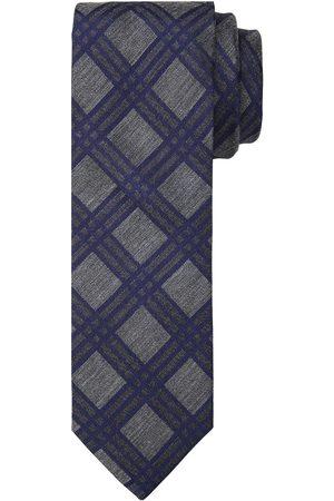Profuomo Navy grijze print stropdas heren