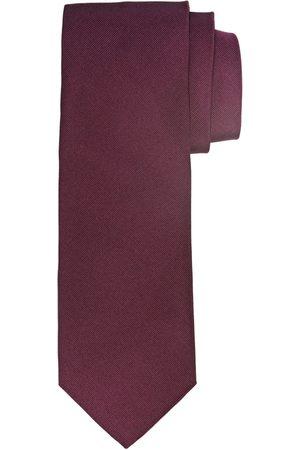 Profuomo Bordeaux ribs zijden stropdas heren