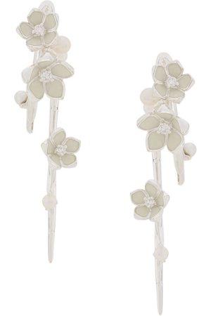 SHAUN LEANE Cherry Blossom hook earrings