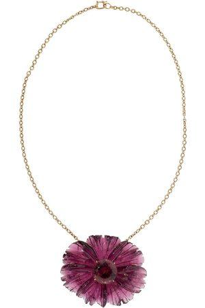 Irene Neuwirth Meisjes Kettingen - 18kt rose gold One-Of-A-Kind Tropical Flower tourmaline necklace
