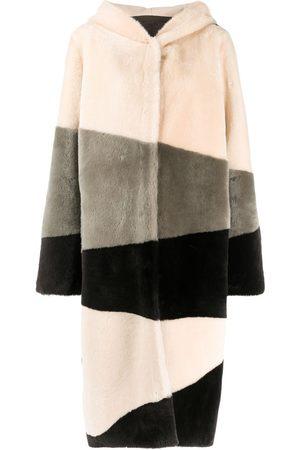 LISKA Hooded single-breasted coat