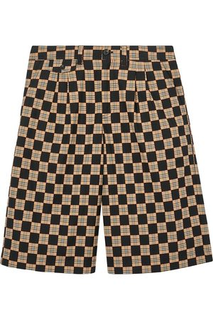 Burberry Chequer jacquard tailored shorts