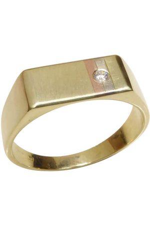 Christian Tricolor gouden cachet ring met diamant rosé