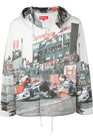 Supreme Racing car print jacket