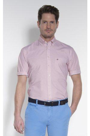 Campbell Casual overhemd met korte mouwen bordeaux