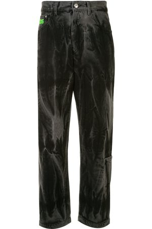 GCDS Washed-effect straight jeans