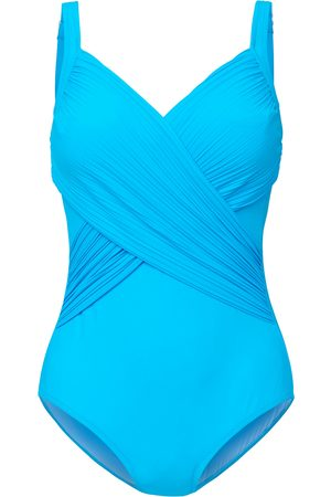 Grimaldimare Dames Badpakken - Badpak verstelbare schouderbandjes turquoise