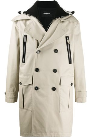 Dsquared2 Logo double-breasted trench coat