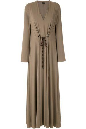 OSKLEN V-neck ankle-length dress