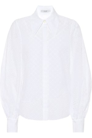 Erdem Eula broderie anglaise cotton shirt