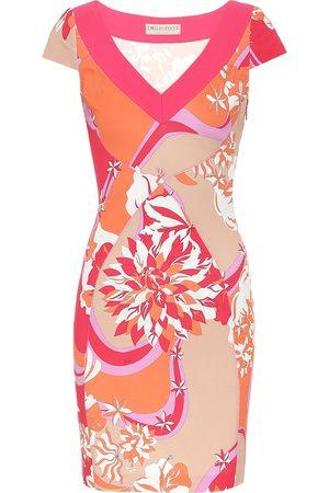 Emilio Pucci Printed stretch-crêpe dress