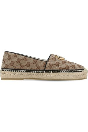 Gucci Dames Espadrilles - 20mm Pilar Quilted Canvas Espadrilles