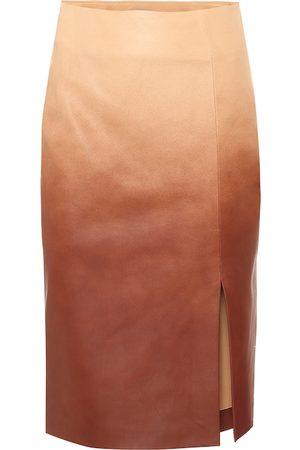 Dorothee Schumacher Dégradé leather midi skirt