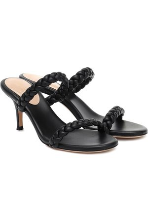 Gianvito Rossi 70 braided leather sandals
