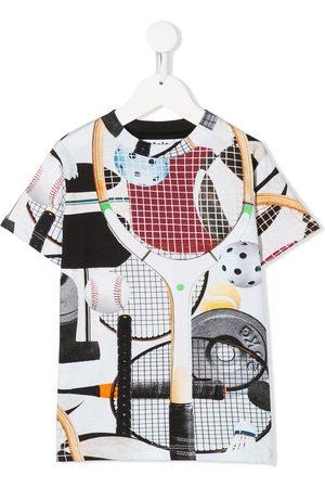 Molo Kids Sport gear-print T-shirt