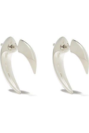 SHAUN LEANE Silver mini Talon earrings