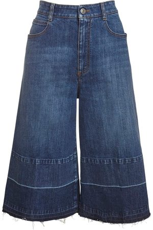 Stella McCartney Eco Denim Wide Leg Culotte Jeans