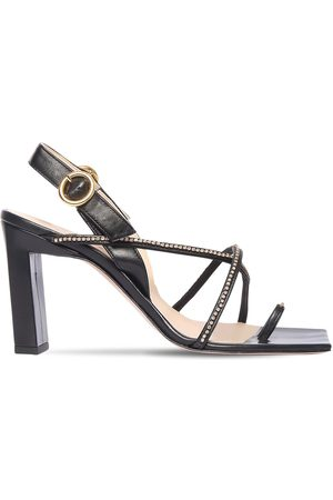 Wandler Dames Sandalen - 85mm Elza Embellished Leather Sandals