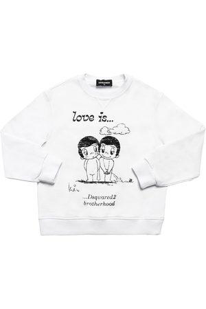 Dsquared2 Meisjes Sweaters - Love Is Capsule Print Cotton Sweatshirt