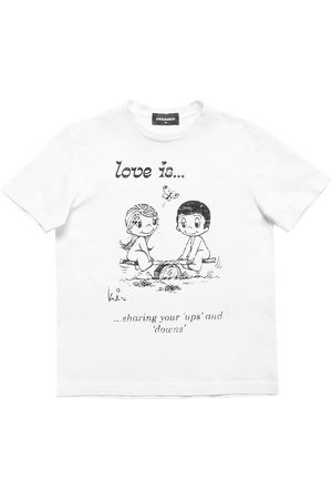 Dsquared2 Meisjes T-shirts - Love Is Capsule Print Jersey T-shirt