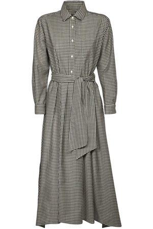 Max Mara Checked Wool Gabardine Shirt Dress
