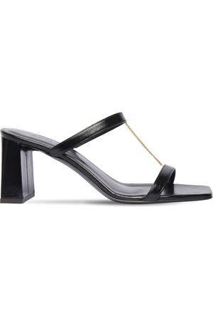 By Far Dames Sandalen - 80mm Chloe Creased Leather Sandals