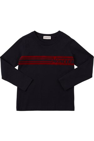 Moncler Flocked Print Cotton Jersey T-shirt