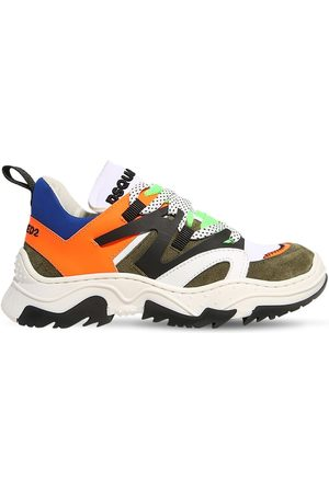 Dsquared2 Jongens Sneakers - Neoprene & Leather Lace-up Sneakers