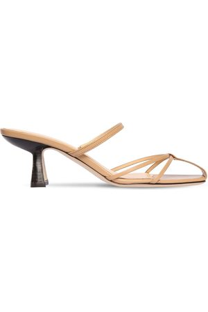 By Far 70mm Edita Leather Sandals