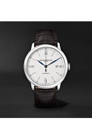 Baume & Mercier Heren Horloges - Classima Automatic 40mm Stainless Steel and Alligator Watch, Ref. No. M0A10214
