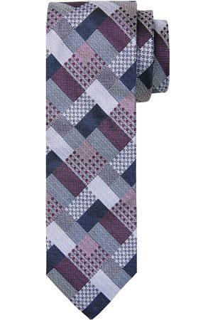 Profuomo Paarse zijden stropdas heren