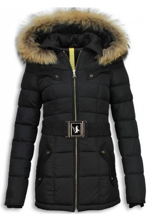 Milan Ferronetti Lange winterjassen met bontkraag winter parka