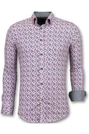 TONY BACKER Heren Overhemden - Slim fit stretch