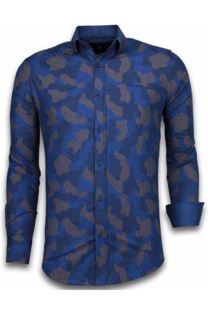 TONY BACKER Heren Overhemden - E overhemden slim fit