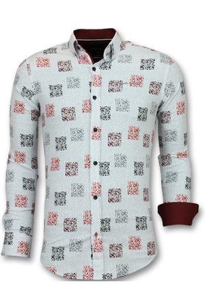 TONY BACKER Heren Overhemden - Getailleerde overhemden bloemen