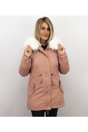 Z-design Dames Jassen met bontkraag - Lange winterjas met grote bontkraag