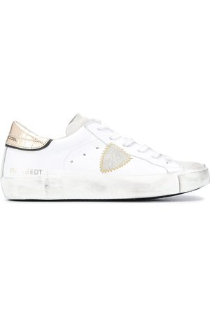 Philippe model Contrasting croc-effect sneakers