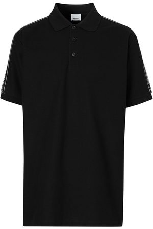 Burberry Logo panelled polo shirt