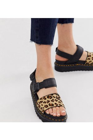 Dr. Martens X ASOS Limited Edition Voss sandals in leopard-Multi